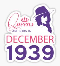 It's My Birthday 79. Made In December 1939. 1939 Gift Ideas. Sticker