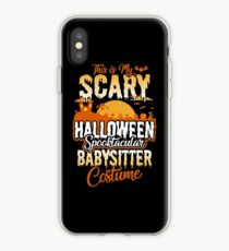 This is my Scary Halloween Spooktacular Babysitter Costume  iPhone Case