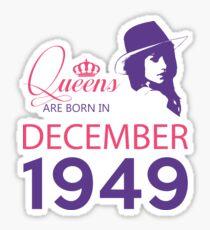 It's My Birthday 69. Made In December 1949. 1949 Gift Ideas. Sticker