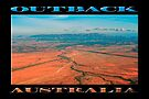 Outback Track (poster on black) by Ray Warren