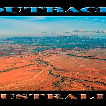 Outback Track (poster on black) by RayW