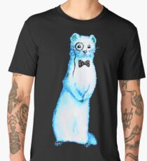 White Ferret Gentleman With Monocle And Bow Tie Men's Premium T-Shirt