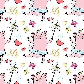 Funny cute piggy princess by naum100