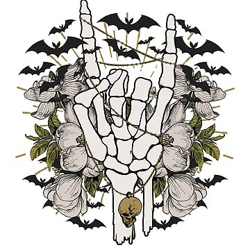 Halloween Skeleton Hand Rocker  by CreativeFit