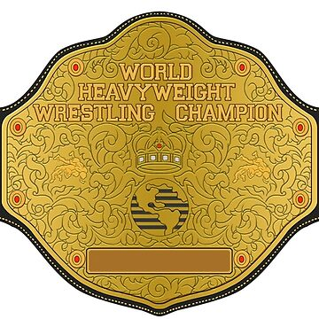 World Champion (Blank Nameplate) by pomelopictures