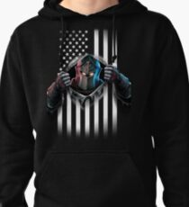 Black Knight American Flag Pullover Hoodie