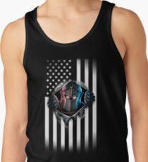 Camiseta de tirantes Versión 2 de la bandera americana del caballero negro