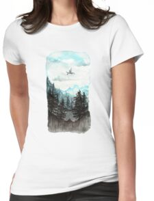 Surveying the slopes  Womens Fitted T-Shirt