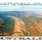 Outback Mountains (poster on white) by Ray Warren