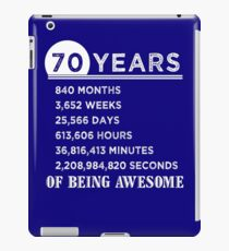 Vinilo o funda para iPad 70.os regalos de cumpleaños 70 años de ser impresionante