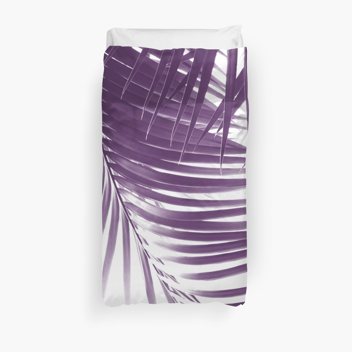 Palm Leaves Purple Vibes #1 #tropical #decor #art by anitabellajantz