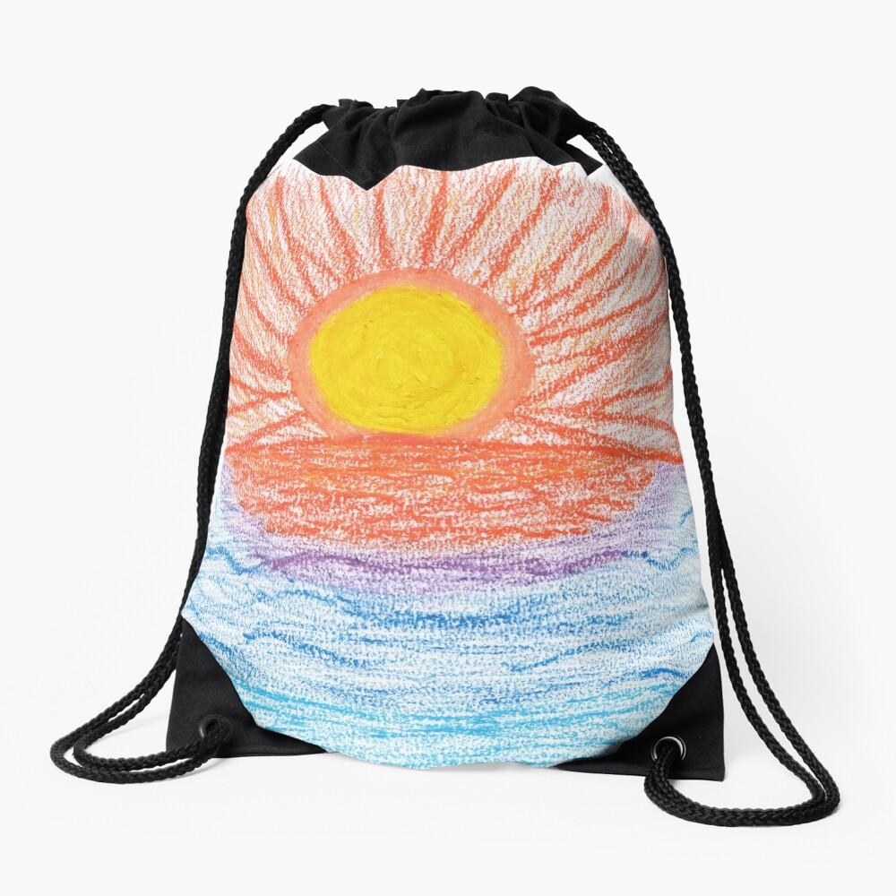 Merch #28 -- Sea Sunset Drawstring Bag