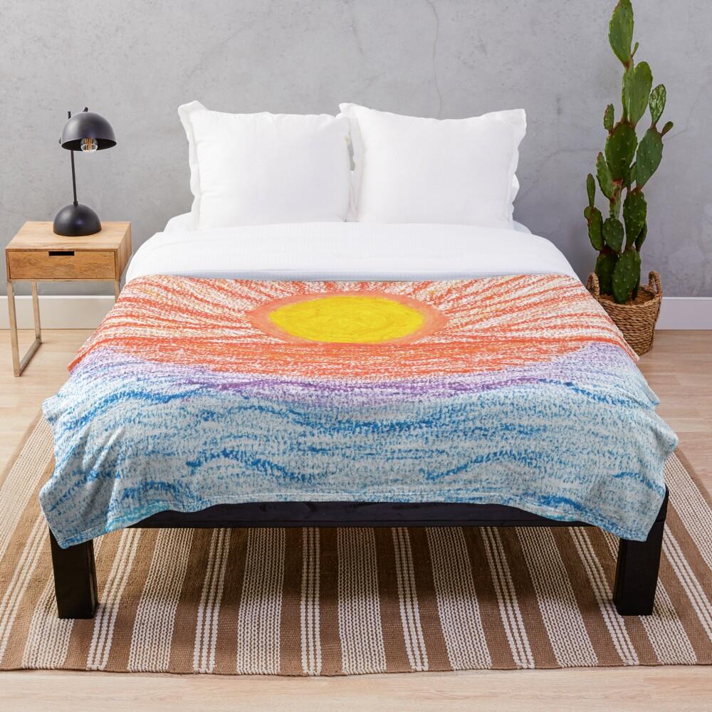 Merch #28 -- Sea Sunset Throw Blanket
