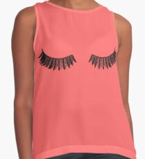 Indian Red Lashes Sleeveless Top