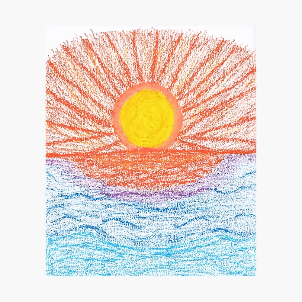Merch #28 -- Sea Sunset Photographic Print
