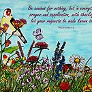Flower Meadow - With Philippians 4:6 Bible Verse by EuniceWilkie