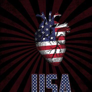 USA in my Heart by francodelgrando