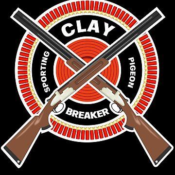 Clay Pigeon Sporting, Skeet, Trap Shotgun Shooting Clay Breaker Gifts by vince58
