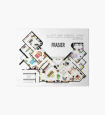 Frasier Apartment Floorplan Art Board