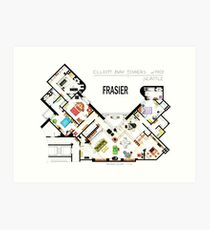 Frasier Apartment Floorplan Art Print