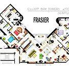 Frasier Apartment Floorplan by Iñaki Aliste Lizarralde
