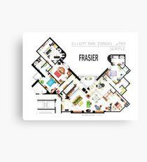 Frasier Apartment Floorplan Metal Print