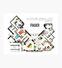 Frasier Apartment Floorplan Photographic Print