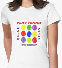 Play Tennis Womens Fitted T-Shirt