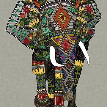 floral elephant stone by scrummy