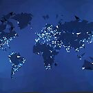 The World (Simplified, Night) by vladstudio