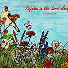 Flower Meadow - With Philippians 4:4 Bible Verse by EuniceWilkie
