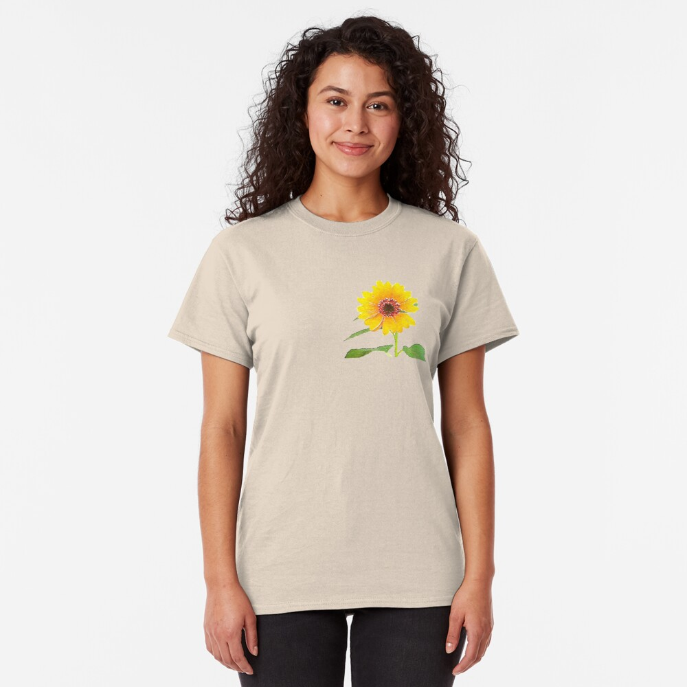 Sunflower in Watercolor Classic T-Shirt