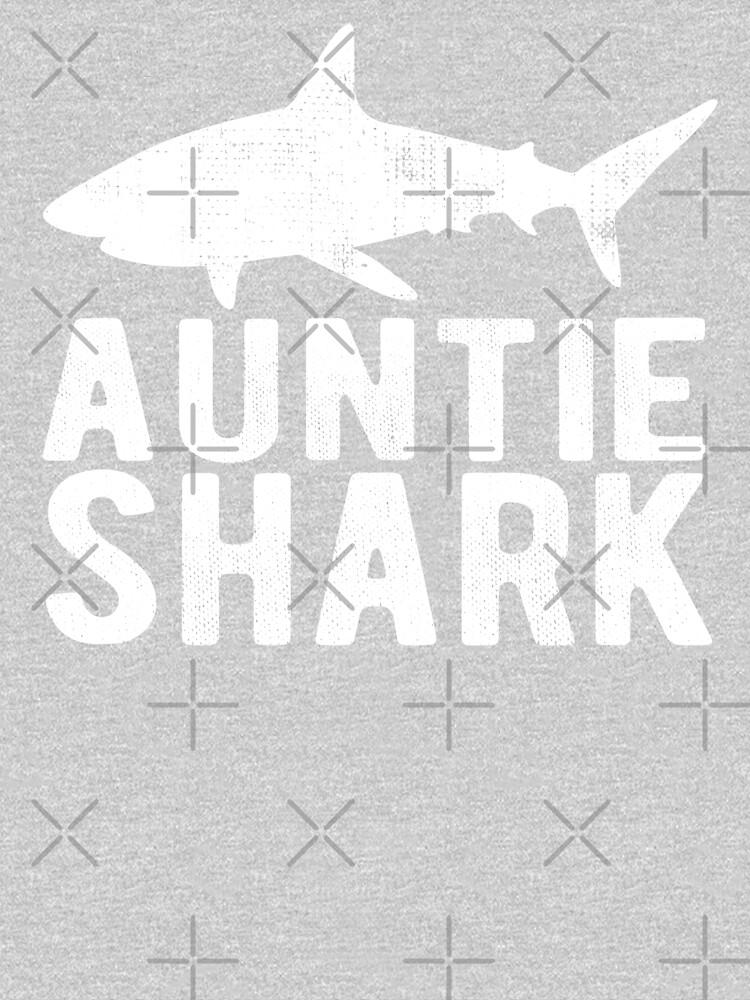 Auntie Shark Family Shark Matching Gift by Teeshirtrepub