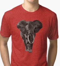 Triangle elephant Tri-blend T-Shirt