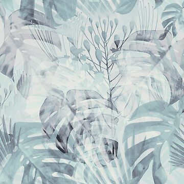 Monstera in gray & emerald by BessoChicca