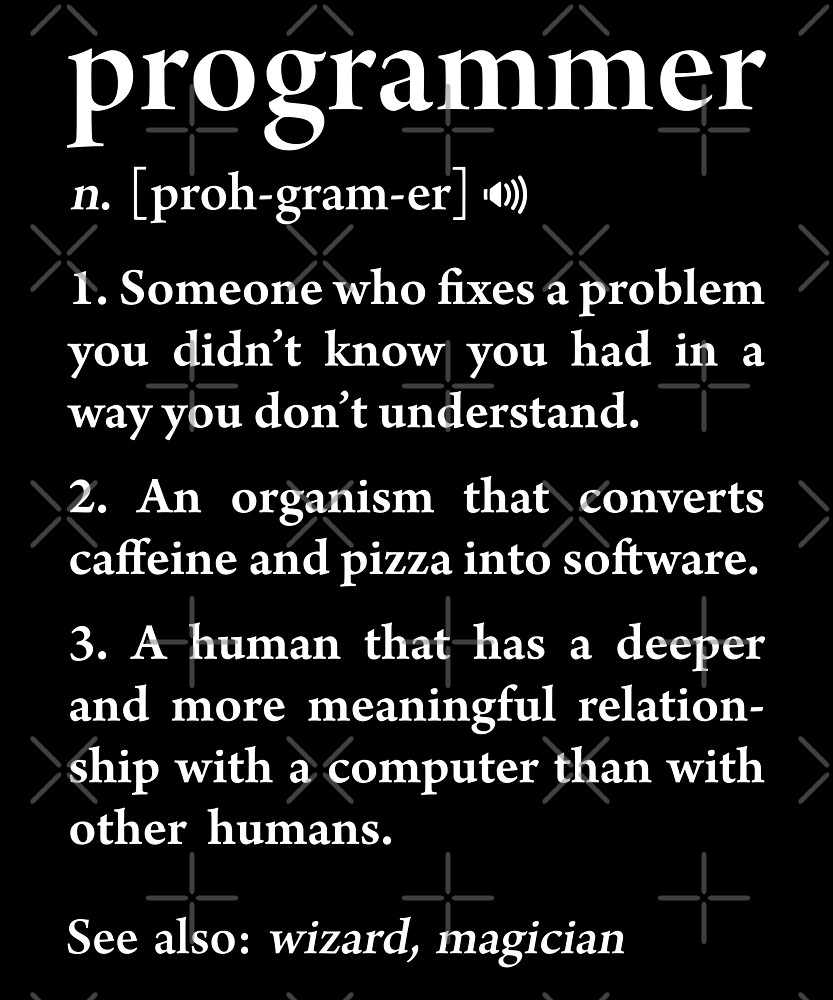 Programmer Definition Funny Meaning Software Developers