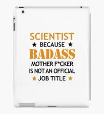 Scientist Badass Funny Birthday Christmas Gift iPad Case/Skin