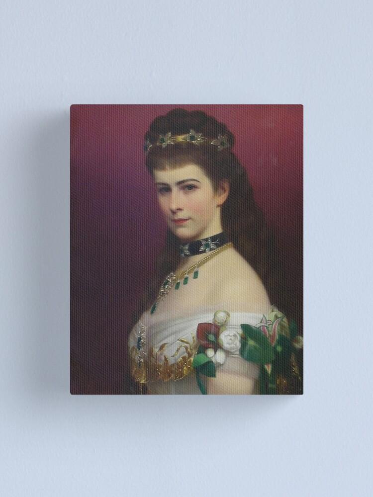 "Alternate view of Empress ""Sissy"",Elizabeth of Austria  Canvas Print"