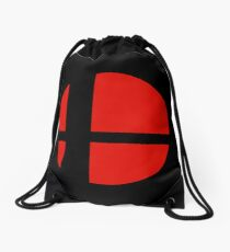 Smash Bros. Logo Drawstring Bag