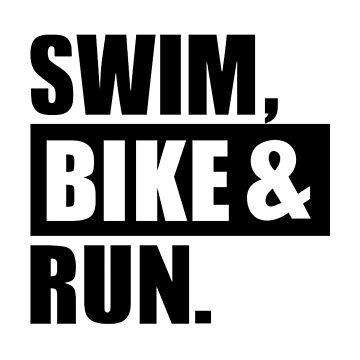 Swim bike run by Designzz