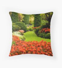 Summer Afternoon At Butchart Throw Pillow