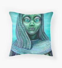 Alien girl Throw Pillow