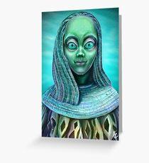 Alien girl Greeting Card
