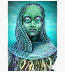 Alien girl Poster