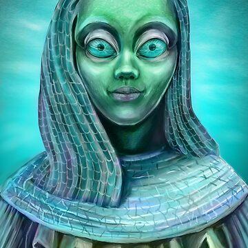 Alien girl by Anthropolog