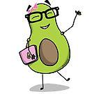 Geek Avocado Pink Laptop by reverentgeek