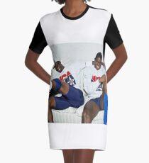 twon man Graphic T-Shirt Dress