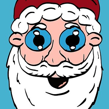Cartoon Santa Head by Rajee
