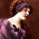 purple vintage lady by cynthiab
