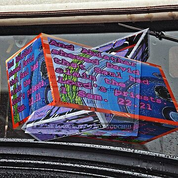 Antique car sign with 3D text boxes by KFRose